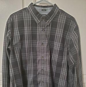 Dickies Mens Black Gray Button Down Shirt Size L